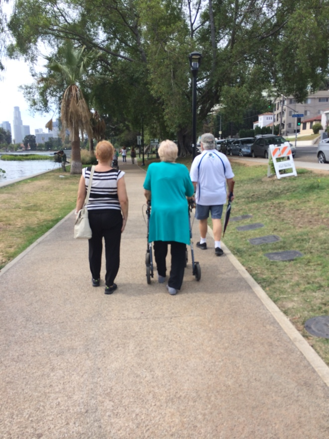 We'd love to see all LA City sidewalks as a smooth as the path at Echo Park lake for strolling and rolling for people of all ages and abilities. #lasidewalks